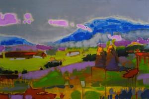 Lera Litvinova Gallery представляет необычную выставку абстрактного пейзажа художника Семена Щербины.