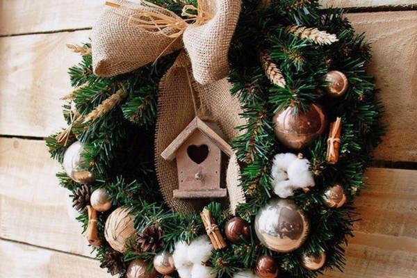 Атмосферный мастер-класс «Рождественский венок»