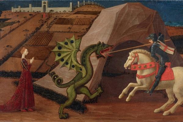 Паоло Уччелло. Святой Георгий, поражающий дракона