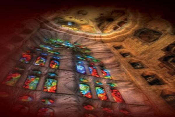 Испанская ночь в соборе  Орган, гитара и водная анимация – эбру