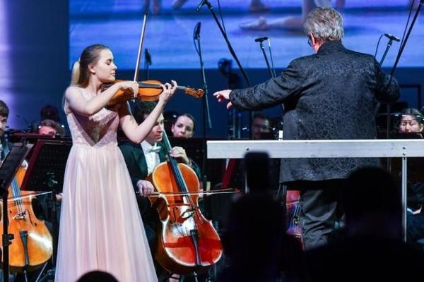 Государственный Академический симфонический оркестр П.И.Чайковского и юные музыканты
