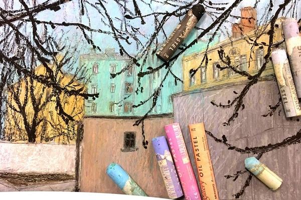 Работа с масляной пастелью со Светланой Мишиной