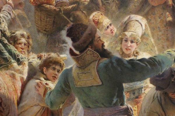Картина К. Е. Маковского. Воззвание Минина