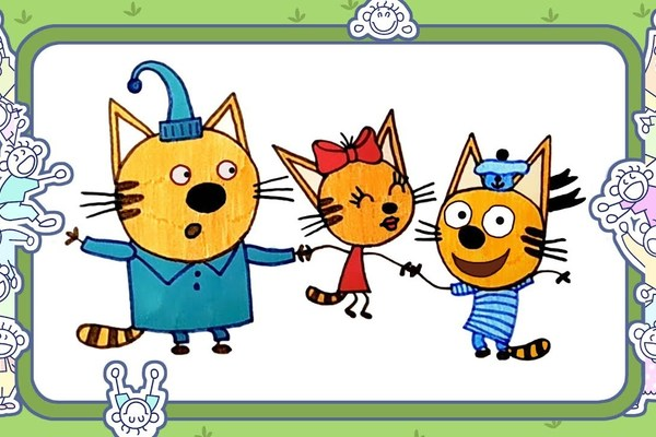 Два кота и одна кошечна