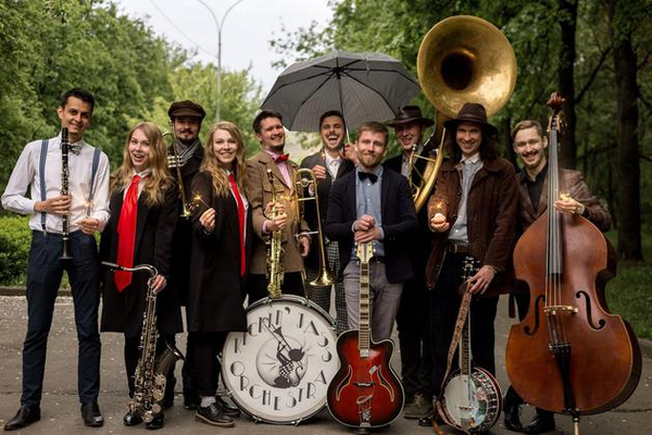 Традиционный джаз Нового Орлеана Kickin' Jass Orchestra