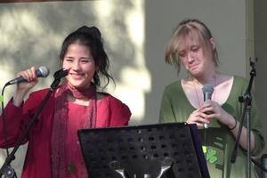 Two daughters Alisa Ten & Marfa Semenova: Autumn Barocco party