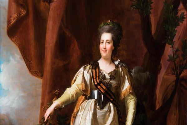 Портрет Екатерины Великой с георгиевской лентой