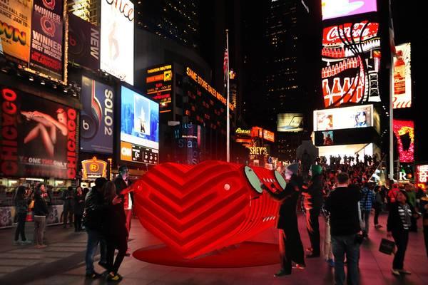 День святого Валентина в Нью-Йорке