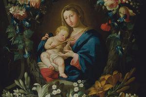 Мадонна в цветах. Рубенс, Бреигель, Ван Клеве. Фламандская живопись XVII века