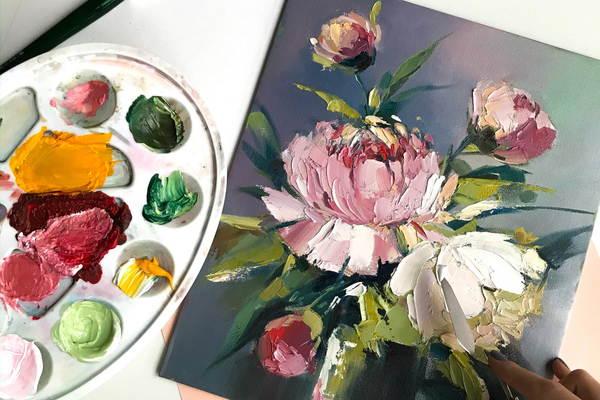 Мастер-класс по живописи маслом «Пионы»