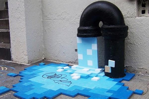 Пиксельная вода