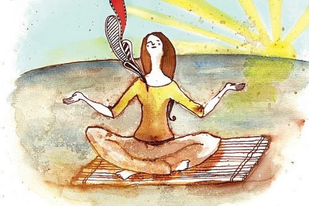 ухе- неприятная смешная картинка про медитацию другом городе тут