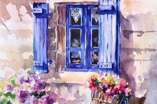 Мастер-класс по живописи акварелью «Прованс»