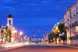 Огни ночной Москвы