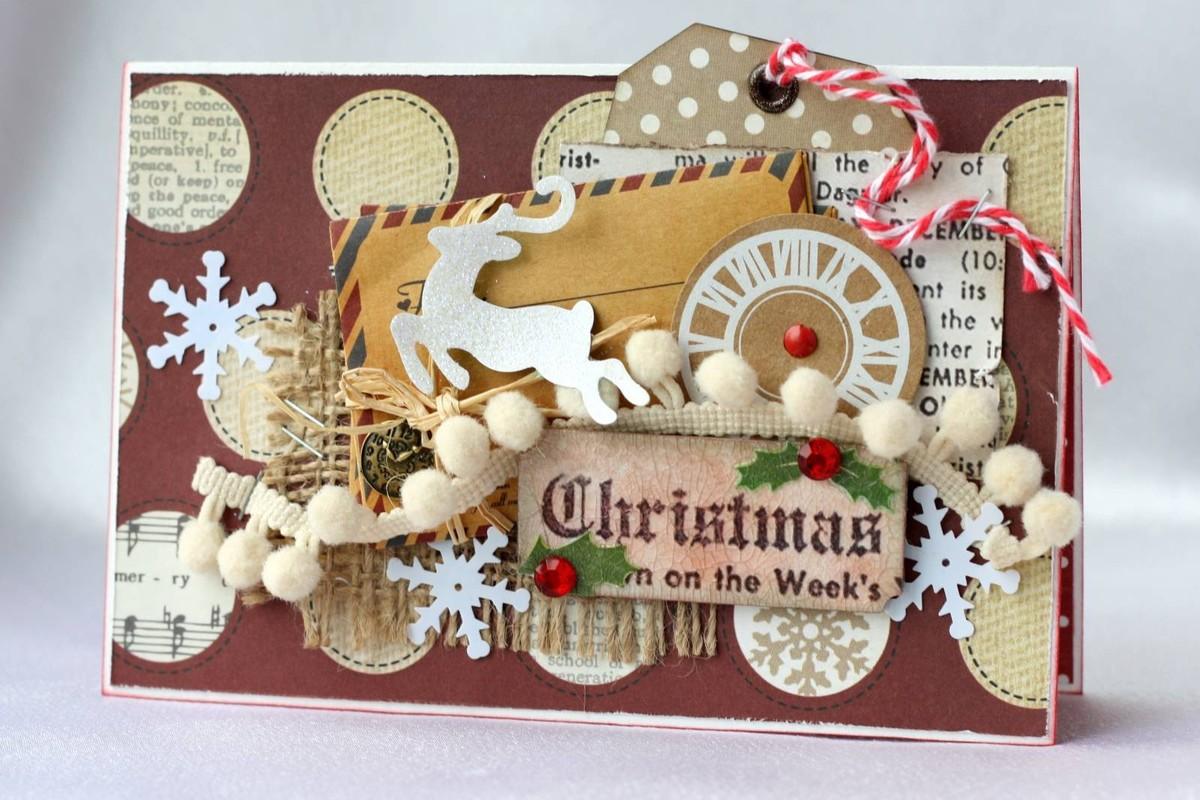 Мастер класс рождественской открытку