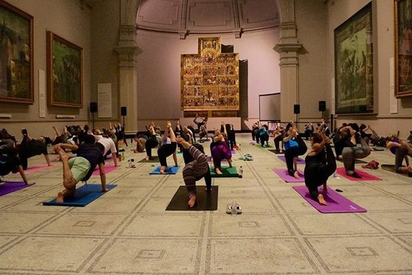 V&A Yoga and Coffee Morning, April 2017